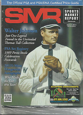 SPORTS MARKET REPORT, PSA PRICE GUIDE, March, 2014 - Walter Johnson