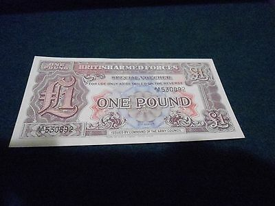 BRITISH ARMED FORCES SPECIAL VOUCHER 1 POUND 2nd SERIES