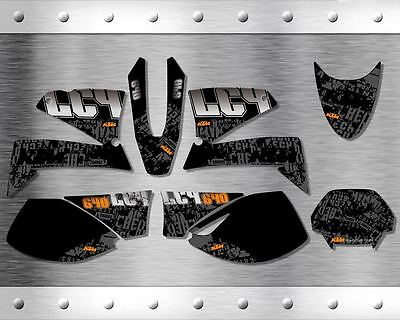 "KTM LC4 2001-2005 ""New"" Stickers Graphics Full Kit"