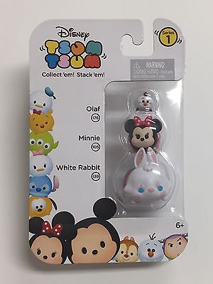 Disney's Tsum Tsum Stackables Series #1 •White Olaf , Minnie, White Rabbit•