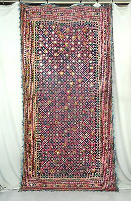 Antique Hand Spun C1850 Banjara Kutch Huge Heavy Embroidery Tapestry Ethnic Rare