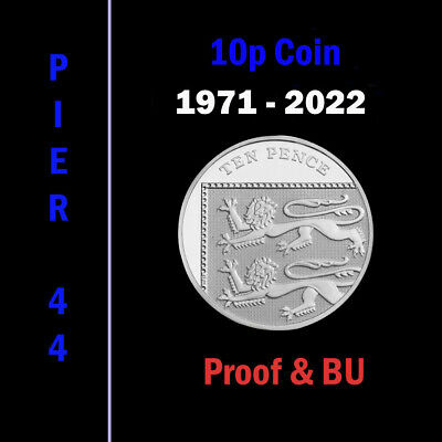 UK PROOF & BU Ten Pence Coins 10p 1971 to 2017 Coin Hunt - Select your Year