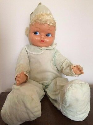 "1957 IDEAL 20"" Patty Prays Doll with Light Green Outfit - Mute"