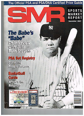 SPORTS MARKET REPORT, PSA PRICE GUIDE, December, 2007 - Babe Ruth