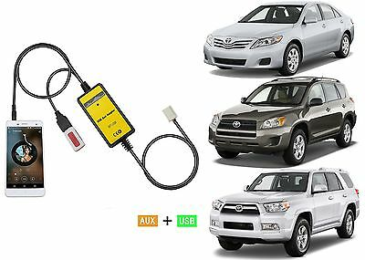 Auxiliary Adapter Radio MP3 USB Music Adapter For 2003-2011 Toyota/Lexus New USA