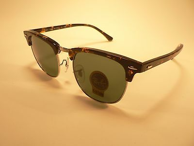 Ray-Ban Clubmaster Sunglasses RB3016 Tortoise Silver Trim / Gray