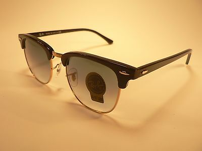 Ray-Ban Clubmaster Sunglasses RB3016 Black Gold Trim/ Gradient