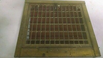 Antique Metal Heating Grate Register Vent Architectural  wall cold air return