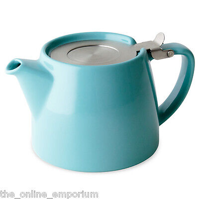TURQUOISE SUKI FORLIFE 18oz (530ml/2 CUP) LOOSE LEAF TEAPOT & INFUSER - FOR LIFE