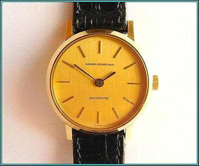 GIRARD PERREGAUX QUARZ - 18K Solid Yellow GOLD - NEW OLD STOCK 1979 - 27mm
