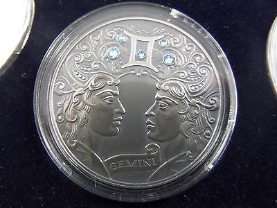 2014 Belarus Signs of the Zodiac 20 Rubles Gemini Sterling Silver Coin
