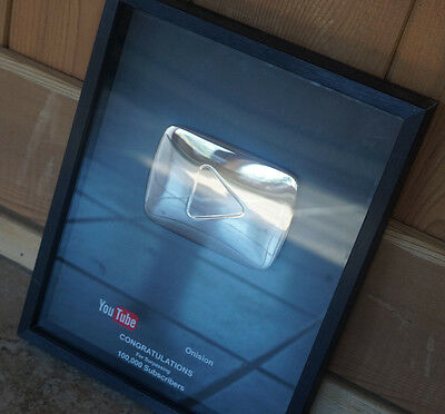 Silver Play Button Plaque for 100,000 Subscribers