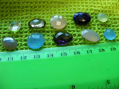 Lot of 10 Genuine Faceted Gemstones,natural stones.Wide Variety.Larger sizes(B).