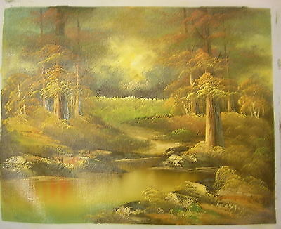 """16""""x20"""" Unstretched oil painting on canvas. Original hand-painted Landscape"""