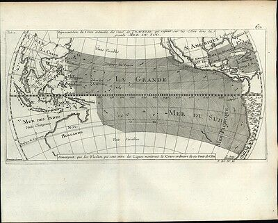 California as Island 1747 Pacific Ocean Islands New Holland China Bellin map