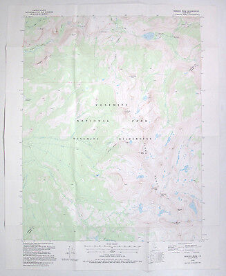 USGS Map Merced Peak Yosemite National Park Calif Topographical 1995 Topo