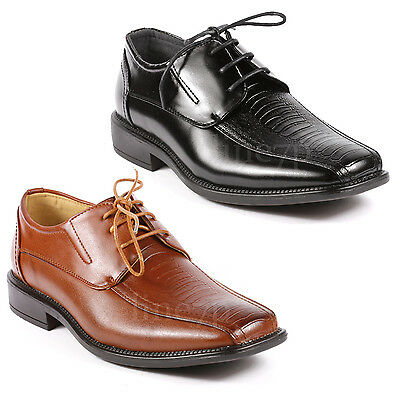 Men's Lace Up Square Toe Dress Classic Oxford Shoes