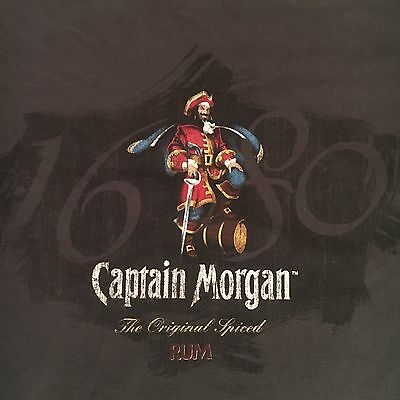 brown CAPTAIN MORGAN ORIGINAL SPICED RUM t shirt - OFFICIAL CREW GEAR - (L)