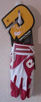 NEW DeMarini Phantom Womens Fastpitch Softball Batting Gloves L Red/White $30