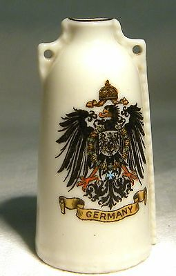 Goss Crested China Newbury Leather Bottle Germany (B28)