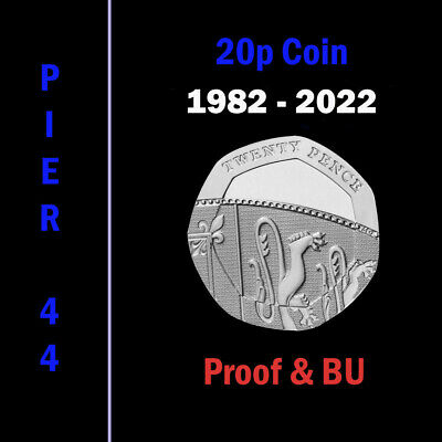UK PROOF & BU Twenty Pence Coins 20p 1982 to 2019 Coin Hunt - Select your Year