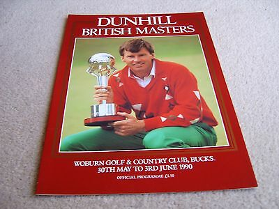 1990 Dunhill British Masters Official Programme, Woburn Golf & Country Club