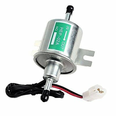 Aussel 12V Universal Heavy Duty Electric Fuel Pump Metal Low Pressure Bolt Fixin