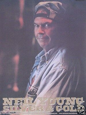 Neil Young 2000 Silver and Gold Original Poster Promo