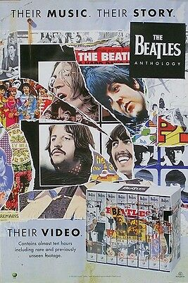 The Beatles 1996 Anthology Video Release Original Promo Poster