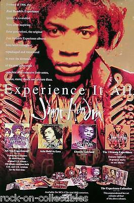 Jimi Hendrix 1993 Original Promo Poster The Experience Collection