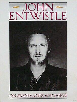 The Who John Entwistle ATCO Original Promo Poster