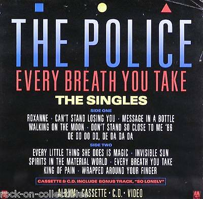The Police 1986 Every Breath Singles Collection Original Poster