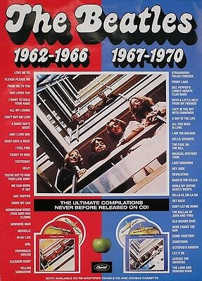 The Beatles 1993 Red & Blue Original Promo Poster