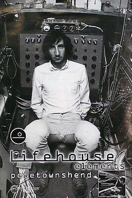 Pete Townshend 2000 Lifehouse Elements Original Poster Promo