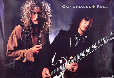 Jimmy Page and David Coverdale 1993 Original Promo Poster