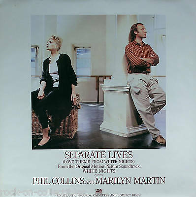 Genesis Phil Collins 1985 Separate Lives Promo Poster Original