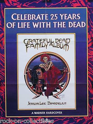 Grateful Dead 1989 Family Album Promo Poster Original