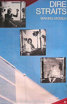 Dire Straits 1980 Making Movies Promo Poster Original