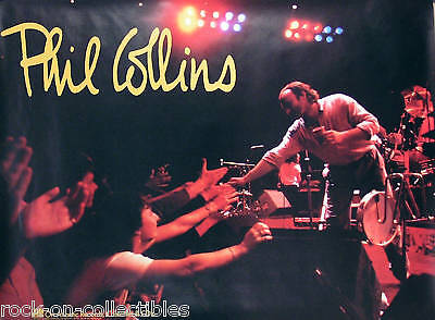 Genesis Phil Collins 1985 No Jacket Live Promo Poster