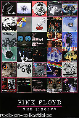 Pink Floyd 2013 The Singles Poster Waters Gilmour Barret Wright Mason