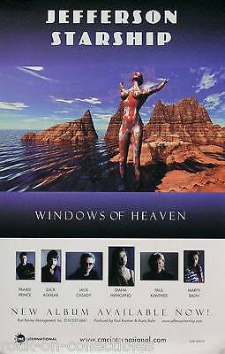 Jefferson Starship Windows Of Heaven Promo Poster Original