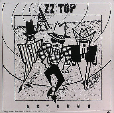 ZZ Top 1994 Antenna Original Promo Poster