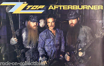 Zz Top 1986 Afterburner Promo Poster Original