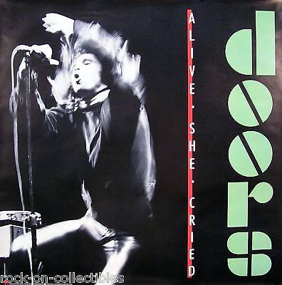 The Doors 1983 Alive She Cried Classic Promo Poster Original