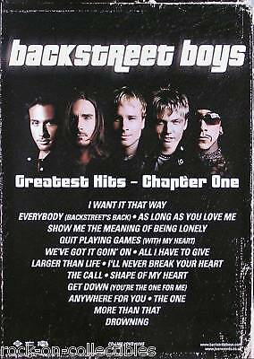 Backstreet Boys 2001 The Hits Chapter One Promo Poster