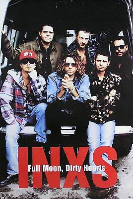 Inxs 1993 Full Moon, Dirty Hears Original Promo Poster