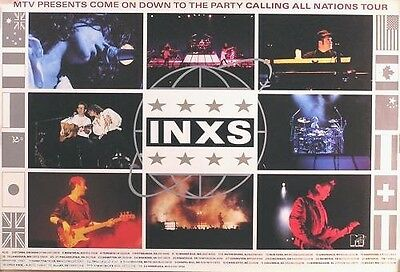 INXS 1988 MTV Calling All Nations Original Tour Promo Poster