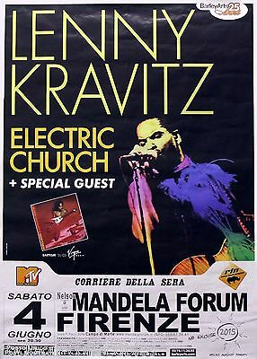 Lenny Kravitz 2005 Electric Church Tour Concert Poster Florence, Italy