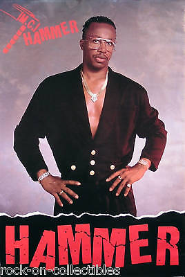 MC Hammer 1989 Let's Get It Started Original Promo Poster