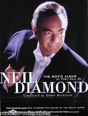 Neil Diamond 98 As Time Goes By Soundtrack Original Promo Poster